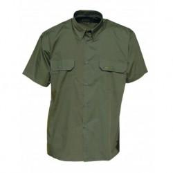 Camisa caqui manga corta