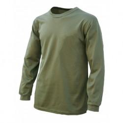 Camiseta caqui manga larga