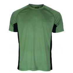 Camiseta técnica caqui/negro